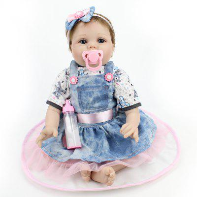 Realistic Simulated Cute Soft Silicone Baby Girl Doll Toy