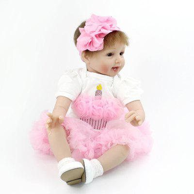 Simulated Cute Soft Touch Lifelike Silicone Reborn Baby Doll Girl Toy