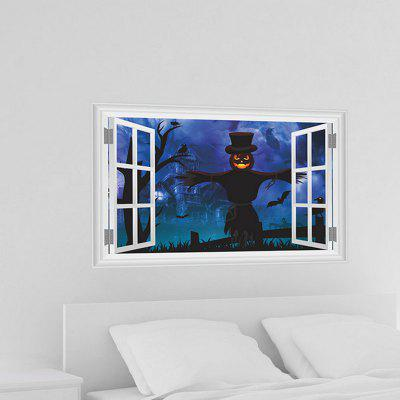 Halloween 3D Horror Pattern Window Design Wall Sticker