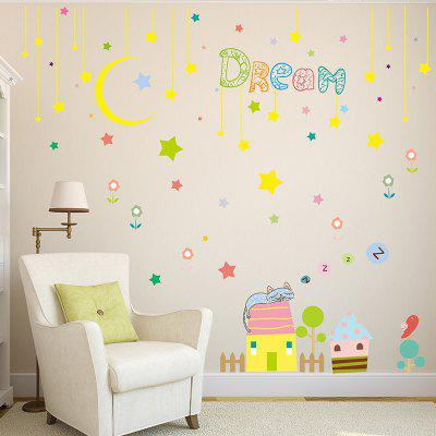 Moon Building Pattern DIY Wall Sticker Home Decoration ...