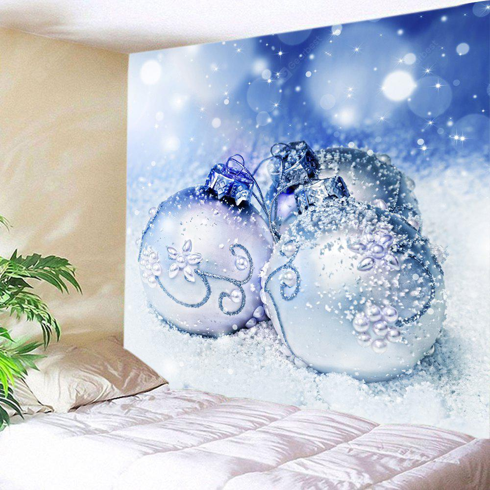 Wall Hanging Art Christmas Snowfield Baubles Print Tapestry