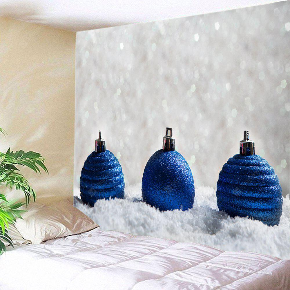 Wall Hanging Art Christmas Baubles Snowfield Print Tapestry
