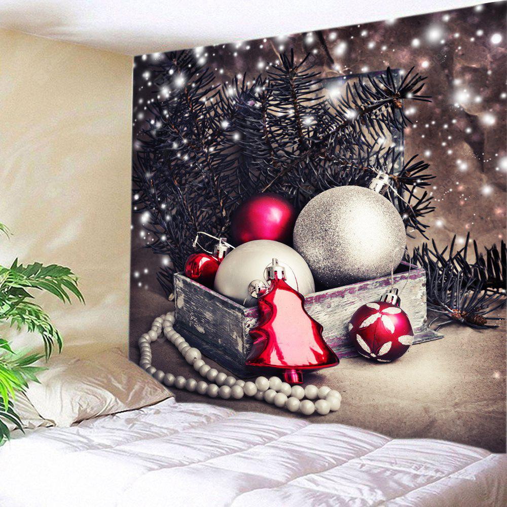 Wall Hanging Art Christmas Baubles Tree Print Tapestry