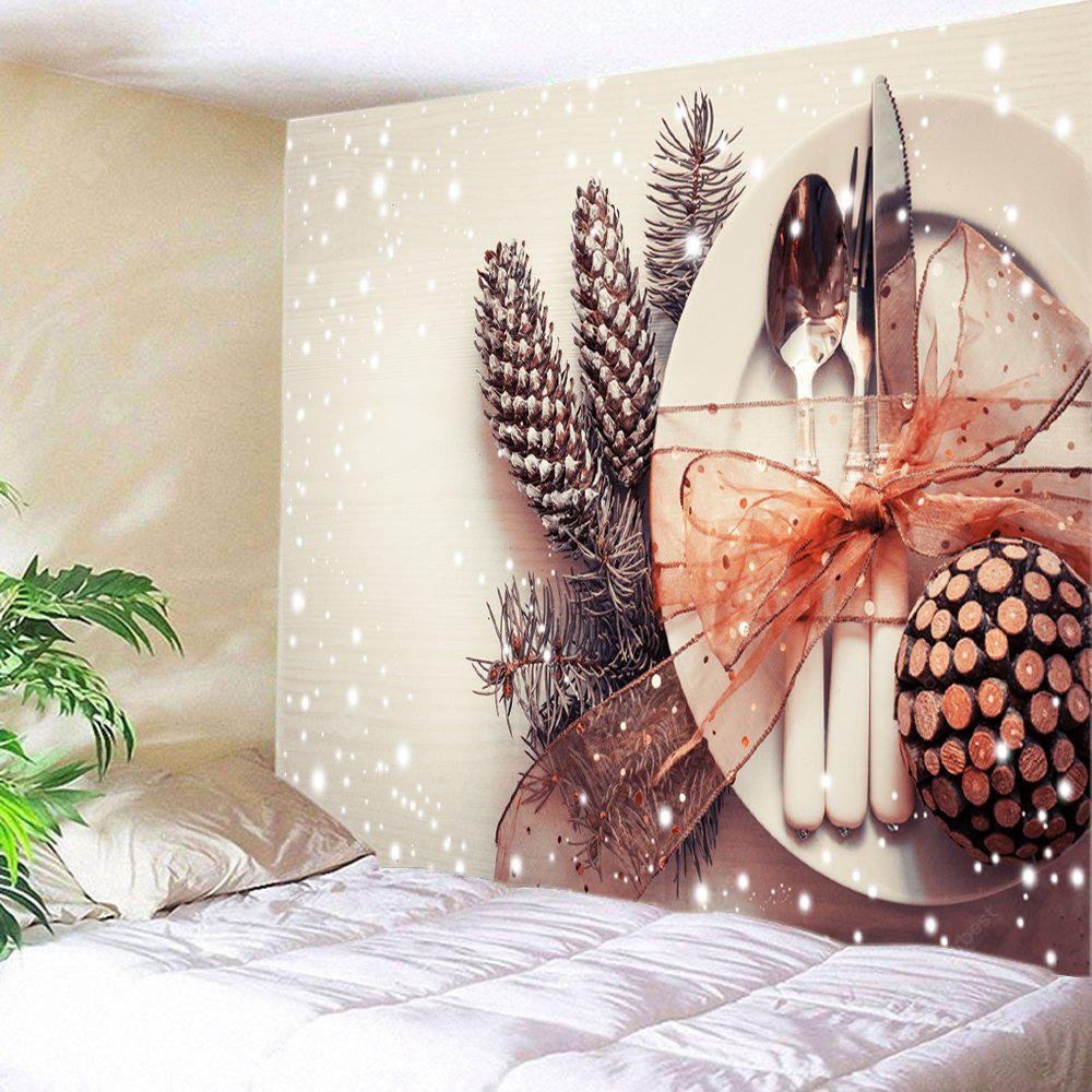 Wall Hanging Art Christmas Tableware Print Tapestry