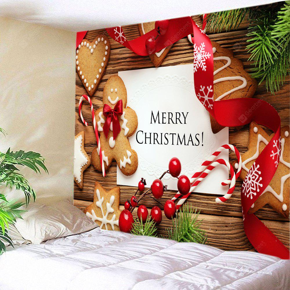 COLORMIX Wall Hanging Art Merry Christmas Cookies Print Tapestry