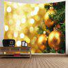 Wall Hanging Art Christmas Hanging Baubles Print Tapestry GOLDEN