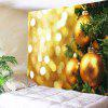 Wall Hanging Art Christmas Hanging Baubles Print Tapestry - GOLDEN