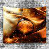 Wall Hanging Decor Christmas Bauble Print Tapestry - BROWN