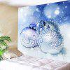 Wall Hanging Art Christmas Snowfield Baubles Print Tapestry - BLEU CLAIR