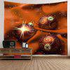 Wall Hanging Art Christmas Cloth Baubles Print Tapestry - MANDARIN