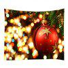 Wall Hanging Art Christmas Bauble Lights Print Tapestry - VERMELHO
