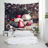 Wall Hanging Art Christmas Baubles Tree Print Tapestry - COLORMIX
