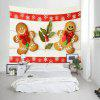 Wall Hanging Art Christmas Cookie People Print Tapestry - COLORMIX