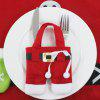 Christmas Pants Decoration Knife Fork Bag - RED