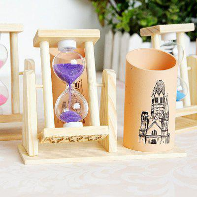 Wooden Pen Pencil Cup with Rotating Hourglass 1PCCrafts<br>Wooden Pen Pencil Cup with Rotating Hourglass 1PC<br><br>Material: Wood<br>Package Contents: 1 x Pen Pencil Cup<br>Package size (L x W x H): 16.00 x 10.00 x 10.00 cm / 6.3 x 3.94 x 3.94 inches<br>Package weight: 0.3000 kg<br>Product size (L x W x H): 12.50 x 4.50 x 9.00 cm / 4.92 x 1.77 x 3.54 inches<br>Product weight: 0.2500 kg