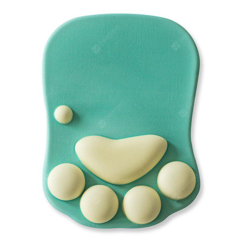 Buy Cat Paw Style Soft Silicone Mouse Pad Wrist Support GREEN