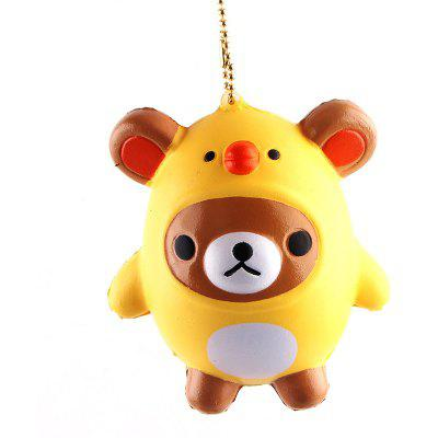 PU Small Bear Chicken Toy for Kids Pressure Reducing