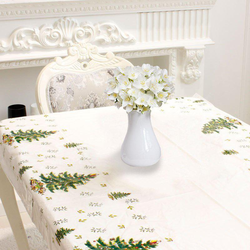 Christmas Decor Disposable Tablecloth Floral Table Cover