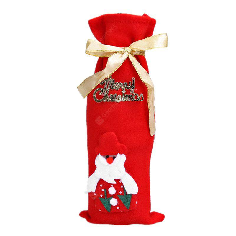 Christmas Decorations Winebottle Cover Wine Gift Bag BLACK AND PINK