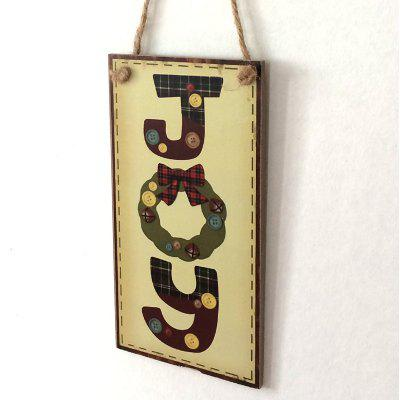 Christmas Joy Pattern Door Wooden Hanging Sign