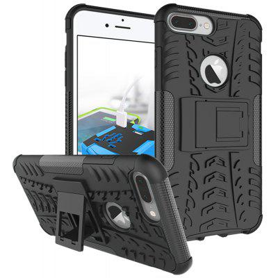 Buy BLACK TPU Bumper PC Cover Kickstand Case for iPhone 8 Plus for $4.21 in GearBest store