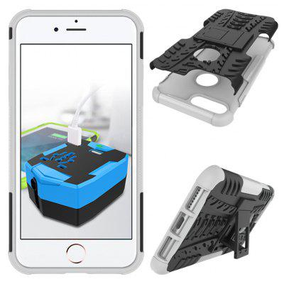 Buy WHITE TPU Bumper PC Cover Kickstand Case for iPhone 8 Plus for $4.21 in GearBest store