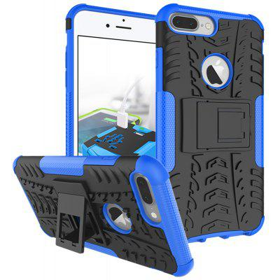 Buy BLUE TPU Bumper PC Cover Kickstand Case for iPhone 8 Plus for $4.21 in GearBest store