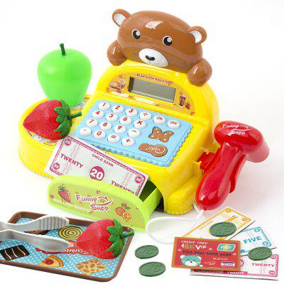 Little Bear Intelligent Cash Register Supermarket Pretend Play Toy Set