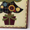 Christmas Tree Pattern Door Wooden Hanging Sign - BUTTERCUP
