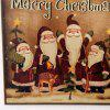 Christmas Santa Pattern Door Wooden Hanging Sign - BROWN
