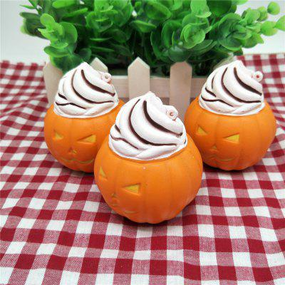 PU Lovely Pumpkin Ice Cream Toy for Kids Pressure Reducing