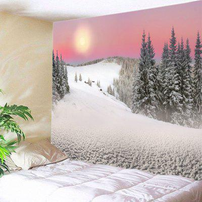 Wall Hanging Art Sunset Snow Mountain Print Tapestry