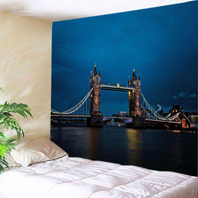 Buy DEEP BLUE Wall Hanging Art Tower Bridge Print Tapestry for $19.68 in GearBest store