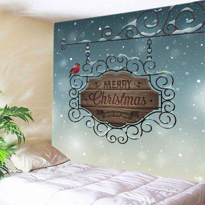 Buy COLORMIX Wall Hanging Art Merry Christmas Sign Print Tapestry for $16.31 in GearBest store