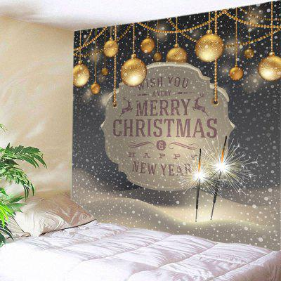 Wall Hanging Art Christmas Firework Baubles Print Tapestry