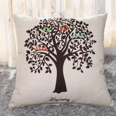 LAIMA BZ002 - 10 Flax Throw Pillow Case Botany Pattern Square Decorative Pillowcase Cushion Cover