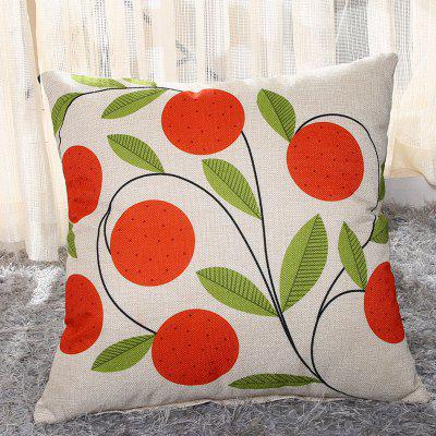 LAIMA BZ002 - 9 Flax Throw Pillow Case Plant Flowers Pattern Square Decorative Pillowcase Cushion Cover
