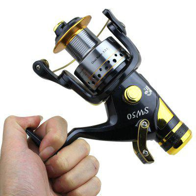 Folding Handle Design Spinning Double Vents Fishing ReelFishing Reels and Rods<br>Folding Handle Design Spinning Double Vents Fishing Reel<br><br>Fishing Method: Freshwater Fishing, Freshwater Fishing, Spinning, Spinning<br>Package Contents: 1 x Spinning Fishing Reel, 1 x Spinning Fishing Reel<br>Package size (L x W x H): 20.00 x 16.00 x 13.00 cm / 7.87 x 6.3 x 5.12 inches, 20.00 x 16.00 x 13.00 cm / 7.87 x 6.3 x 5.12 inches<br>Package weight: 0.5800 kg, 0.5800 kg<br>Product size (L x W x H): 15.00 x 19.00 x 8.00 cm / 5.91 x 7.48 x 3.15 inches, 15.00 x 19.00 x 8.00 cm / 5.91 x 7.48 x 3.15 inches<br>Product weight: 0.4800 kg, 0.4800 kg<br>Reel Handle Side: Exchangeable, Exchangeable<br>Reel Handle Type: Foldable, Foldable<br>Type: Spinning Reels, Spinning Reels