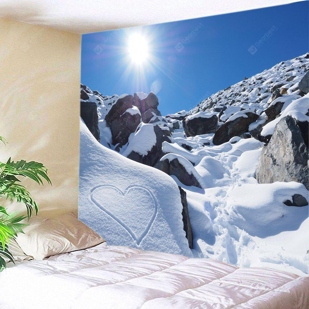 Wall Hanging Art Sunlight Snow Heart Print Tapestry
