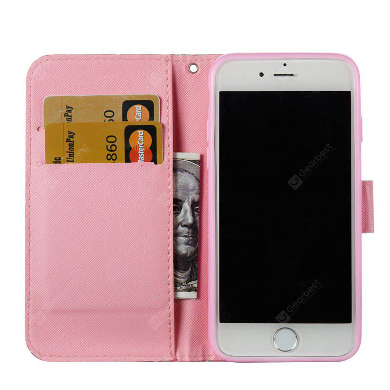 PU Leather 3D Painting Foldable Bracket Case for iPhone 7