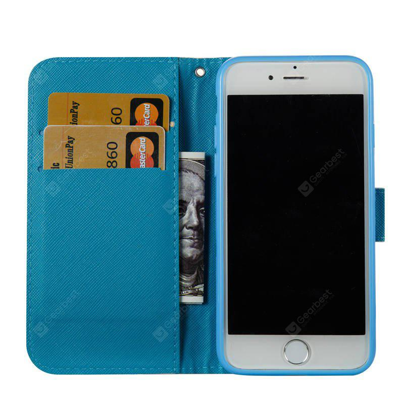 PU Leather Skid-proof Foldable Bracket Case for iPhone 7