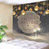 Wall Hanging Art Christmas Firework Baubles Print Tapestry - COLORMIX