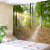 Wall Hanging Decor Forest Track Print Tapestry - GREEN