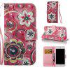 Wonderful Flower Pattern Cover Case for iPhone 7 - MULTI