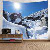 Wall Hanging Art Sunlight Snow Heart Print Tapestry - WHITE
