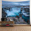 Wall Hanging Art River Waterfall Print Tapestry - LAKE BLUE