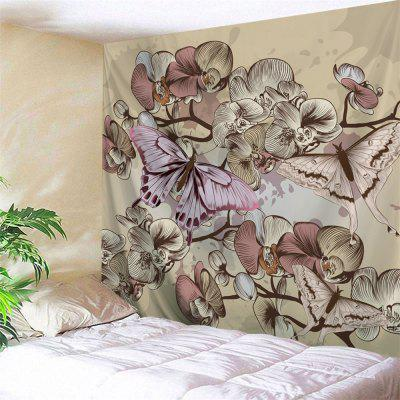 Vintage Butterfly Flower Wall Tapestry