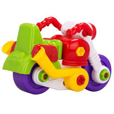 Assembled Motorcycle Educational Toy  for KidsOther Educational Toys<br>Assembled Motorcycle Educational Toy  for Kids<br><br>Age: 1 Years+<br>Applicable gender: Unisex<br>Design Style: Other<br>Features: DIY<br>Gender: Unisex<br>Material: Others<br>Package Contents: 1 x Set of Toy Accessories, 1 x Screwdriver, 1 x Wrench<br>Package size (L x W x H): 20.00 x 11.00 x 14.00 cm / 7.87 x 4.33 x 5.51 inches<br>Package weight: 0.2000 kg<br>Product size (L x W x H): 19.00 x 10.00 x 13.00 cm / 7.48 x 3.94 x 5.12 inches<br>Product weight: 0.1750 kg<br>Small Parts: Yes<br>Type: Intelligence toys<br>Washing: Yes