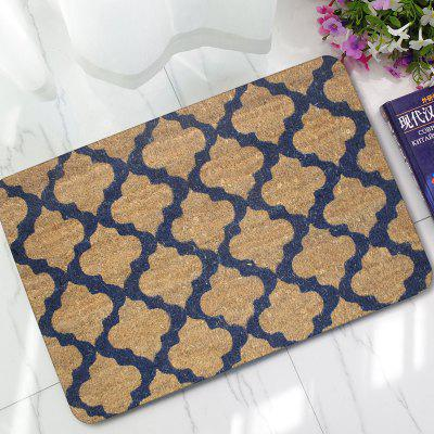 Buy BROWN Creative Rubber Floor Mat Simple Style Printed Carpet 1PC for $14.27 in GearBest store
