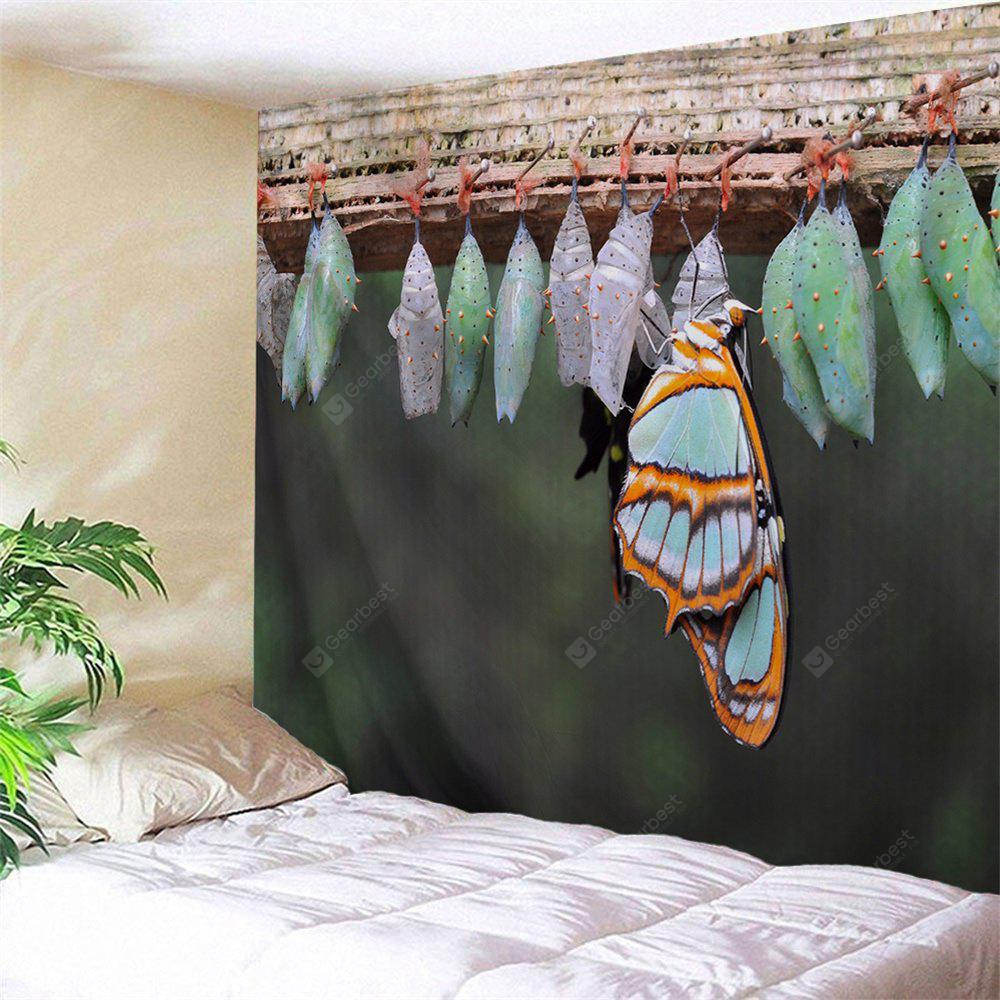 Wall Decor Butterfly Cocoons Print Tapestry
